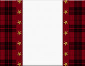 Red, Black and Star Frame for your message or invitation — Stock Photo