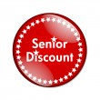 Seniors Discount button — Stock Photo