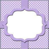 Lavender Gingham with Ribbon Background for your message or invi — Stock Photo