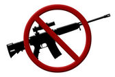 Ban on rifles — Stock Photo
