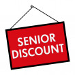 Senior Discount Sign — Stock Photo