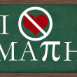 I Hate Math Chalkboard - 图库照片