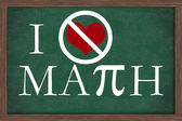 I Hate Math Chalkboard — Stock Photo