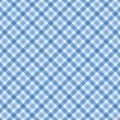 Stock Photo: Blue Gingham Fabric Background