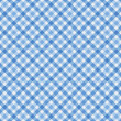 Blue Gingham Fabric Background — Stock Photo #21007067