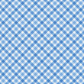 Blue Gingham Fabric Background — Stock Photo
