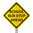 School Bus Stop Sign - Foto Stock