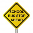 School Bus Stop Sign — Stock Photo #21120253