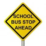 School Bus Stop Sign — Stock Photo