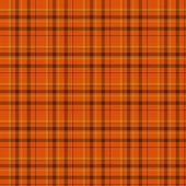 Orange and Black Plaid Fabric Background — Stock Photo