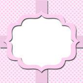 Pink Gingham with Ribbon Background for your message or invitati — Stock Photo