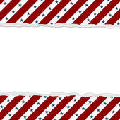 Red Stripes with Blue Stars background for your message or invit — Stock Photo