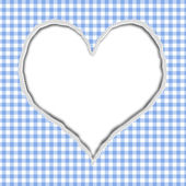 Blue Gingham Torn Background for your message or invitation — Stock Photo