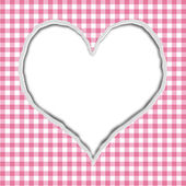 Pink Gingham Torn Background for your message or invitation — Stock Photo
