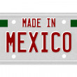 Made in Mexico License Plate — Stock Photo #21622993