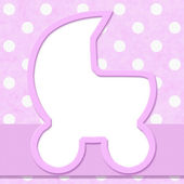 Pink Polka Dot with Ribbon Background for your message or invita — 图库照片