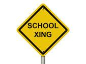 School Crosswalk Warning Sign — Stock Photo