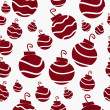 Christmas Red Retro Ornament Fabric Background - Stock Photo