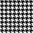 Stock Photo: Black and White Hounds Tooth Fabric Background