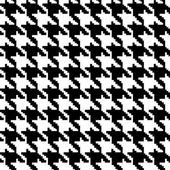 Black and White Hounds Tooth Fabric Background — Stock Photo