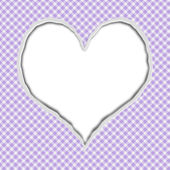 Purple Gingham Torn Background for your message or invitation — Stock Photo