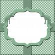 Green Gingham with Ribbon Background for your message or invitat — Stock Photo