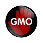 Stop using GMO food, genetically modified organism — 图库照片
