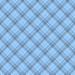 Blue Plaid Fabric Background - Foto de Stock