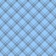Blue Plaid Fabric Background - 图库照片