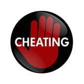 Stop Cheating — Stock Photo