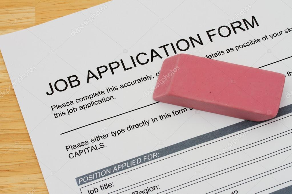 how to fix a mistake on a job application