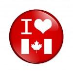 I love Canada button — Stock Photo #25928535