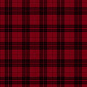 červené a černé kostkované látky pozadí — Stock fotografie
