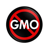 Stop using GMO food, genetically modified organism — Foto de Stock