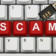 Stock Photo: Internet Scam