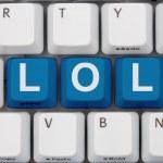 Internet Chat Acronym LOL — Stock Photo