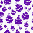 Christmas Purple Retro Ornament Fabric Background — Stock Photo