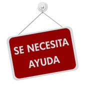 Se Necesita Ayuda Sign — Stock Photo