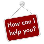 Nasıl yardım edebilirim imza — Stok fotoğraf