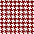 Red and White Hounds Tooth Fabric Background — Stockfoto