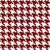 Red and White Hounds Tooth Fabric Background — Stock Photo