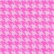 Stock Photo: Pink Hounds Tooth Fabric Background