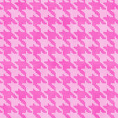 Pink Hounds Tooth Fabric Background — Stock Photo
