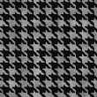 Black and Gray Hounds Tooth Fabric Background — Stock Photo