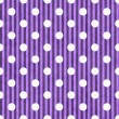 Purple and White PolkDot and Stripes Fabric Background — Stock Photo #27123165