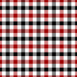 Red, White and Black Plaid Fabric Background — Photo