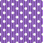 Purple and White Polka Dot and Stripes Fabric Background — Stock Photo