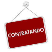 Contratando Sign — Stock Photo