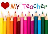 Kocham mój nauczyciel — Zdjęcie stockowe