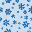 Blue Snowflake Fabric Background — 图库照片